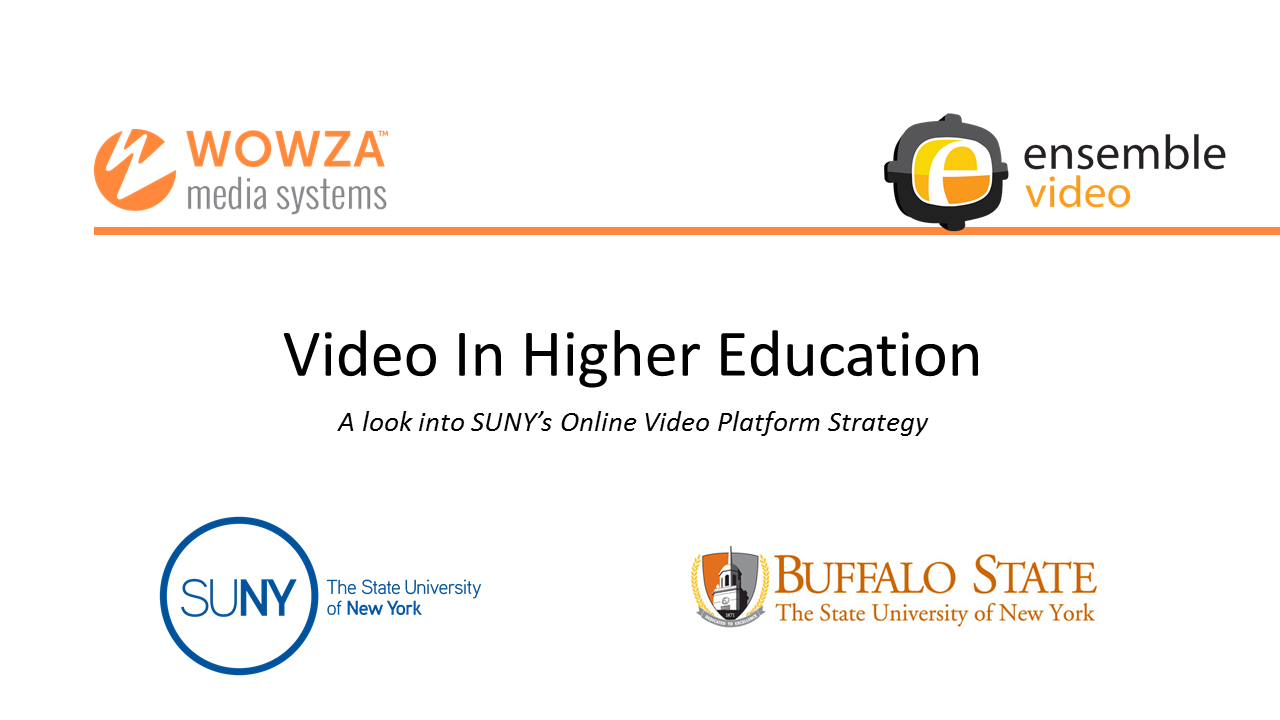 Video in Higher Education: A Look into SUNY's Onli...