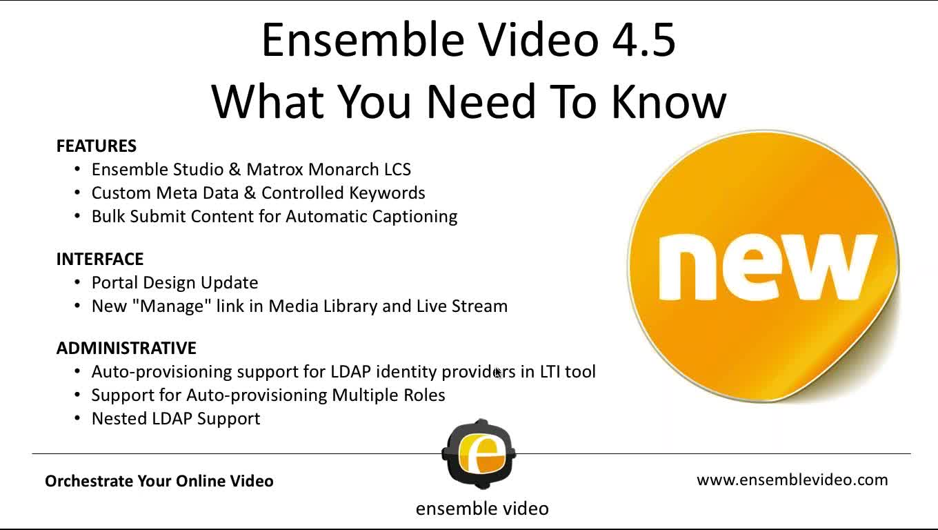 Ensemble Video 4.5 Webinar