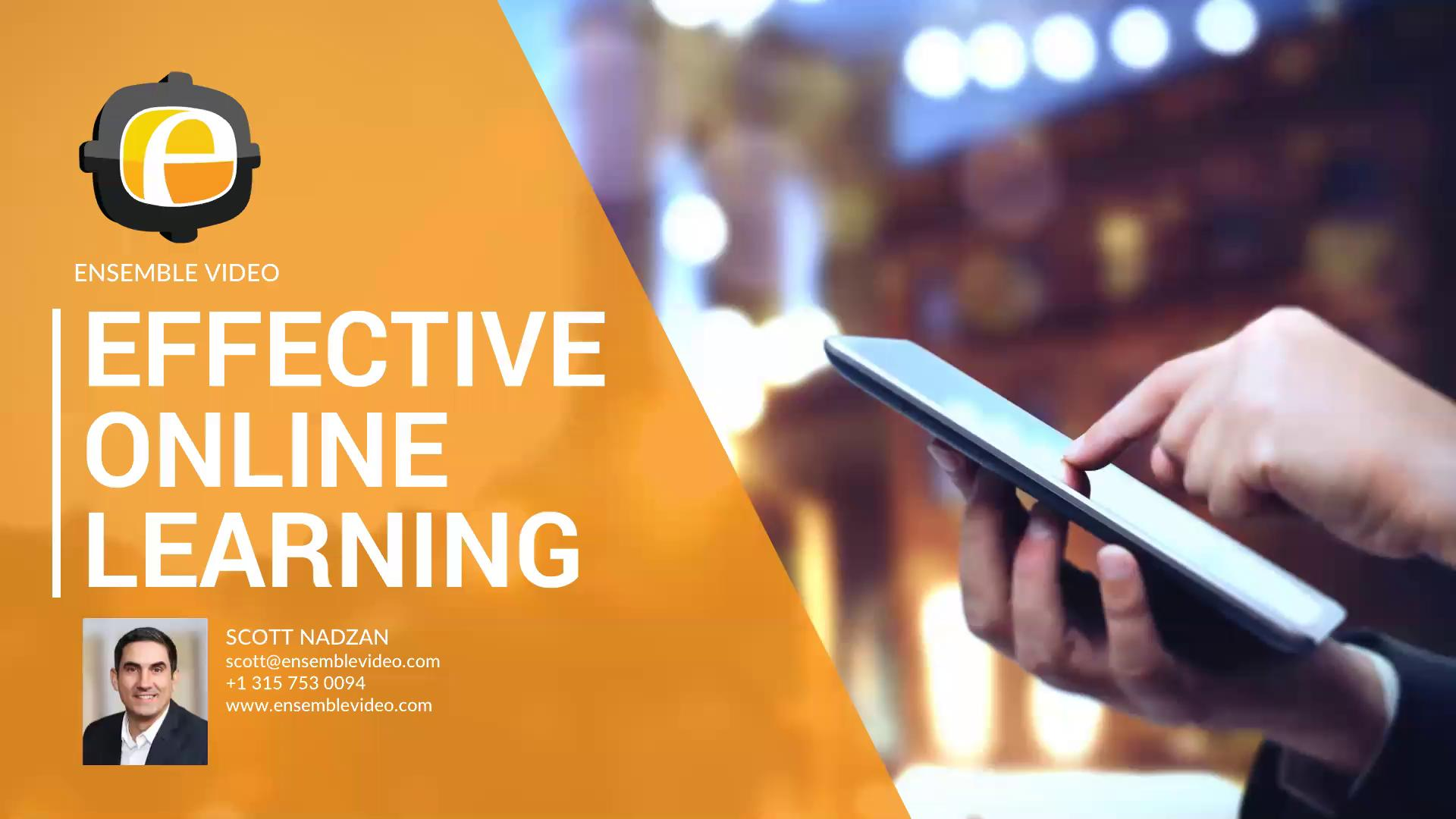 Effective Online Learning with Ensemble Video