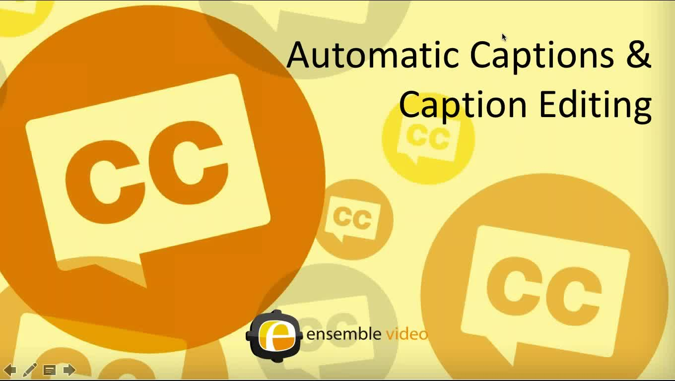 Automatic Captions and Caption Editing Webinar